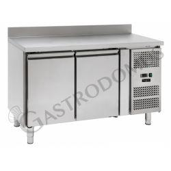 Tavolo refrigerato - 2 porte - alzatina - Prof. 700 -2°C/+8°C
