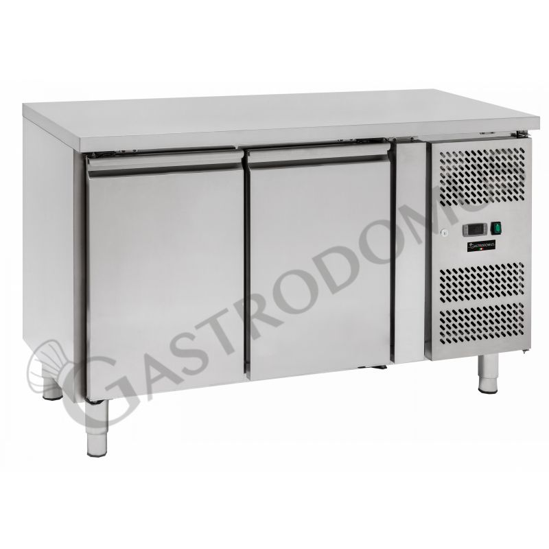 Tavolo refrigerato per pasticceria - 2 porte - 60 x 40 - piano in inox