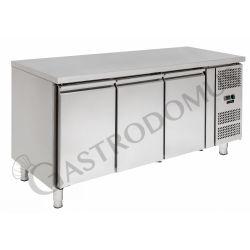 Tavolo refrigerato - 3 porte - Prof. 600 - temperatura -2°C/+8°C - tropicalizzato