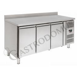 Tavolo refrigerato - 3 porte - alzatina - Prof. 600 -2°C/+8°C - tropicalizzato