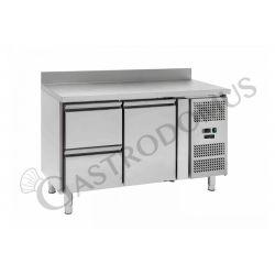 Tavolo refrigerato - 1 porta e 2 cassetti sinistra - alzatina - Prof. 700 -2°C/+8°C