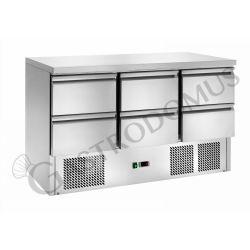 Saladette refrigerazione statica, capacità 368 LT con 6 cassetti