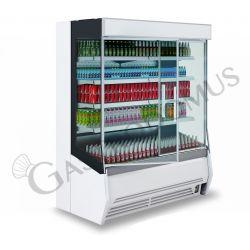 Murale espositivo ventilato Mirco con porte battenti, Temperatura +2°/+10°C, Lunghezza 2560 mm