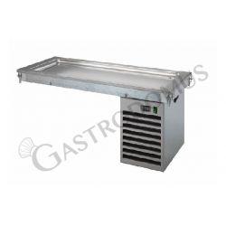 Piano refrigerato statico da incasso - altezza vasca 30 mm - dimensioni L 1460 x P 640 x H 510 mm