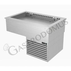 Piano refrigerato ventilato da incasso con vasca regolabile - dimensioni L 2110 x P 740 x H 745 mm