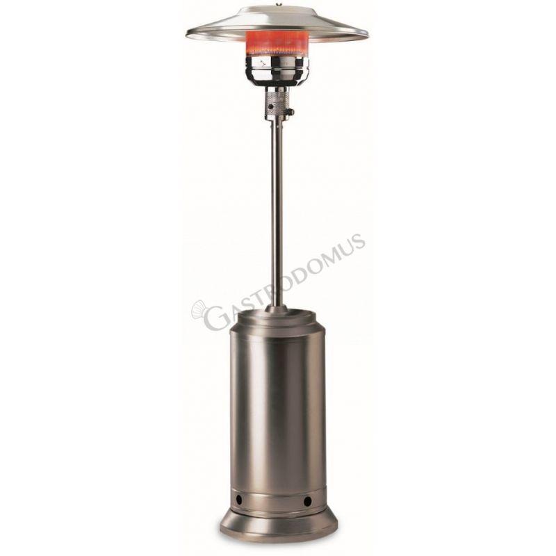 Fungo riscaldante a raggi infrarossi con alimentazione a gas - acciaio inox