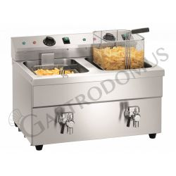 Friggitrice da banco ad induzione - 2 vasche - capacità 8+8 LT - 3500+3500 W