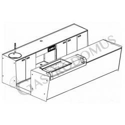 Banco bar + Retrobanco Lunghezza 3,5metri Drop-in Destro Vetro Supporto