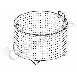 Colapasta 1 settore per pentola 150 litri - fori diametro 5 mm