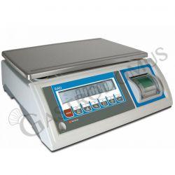 Bilancia controllo del peso con stampante incorporata, portata 30 Kg e precisione 10 g