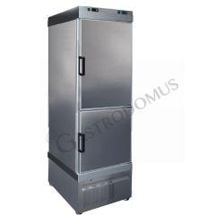 Armadio refrigerato ventilato per gelateria con temperatura combinata -25°C/ +5°C  e -40°C/-18°C e capacità 620 LT