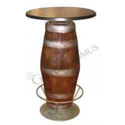 Tavolo barile con poggiapiedi - Altezza 98 cm
