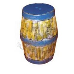 Sgabello a forma di barile colorato - Altezza 55 cm