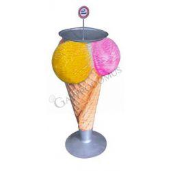 Posacenere a forma di gelato in vetroresina - Altezza 114 cm
