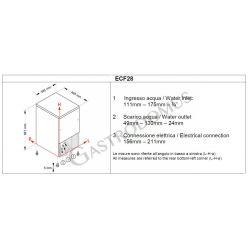 Produttore di ghiaccio monofase kg 25/24h cubetto cavo - capacità contenitore 8 kg