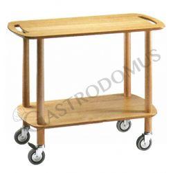 Carrello di servizio Gueridon in legno massello, piani in multistrato di betulla L 900 mm x P 450 mm x H 770 mm