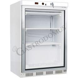 Armadio refrigerato statico con temperatura negativa e porta in vetro, capacità 130 litri