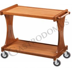 Carrello di servizio in legno con 2 piani, L 860 mm x P 550 mm x H 850 mm