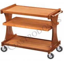 Carrello di servizio in legno con 3 piani, L 860 mm x P 550 mm x H 850 mm
