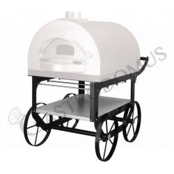 Carrello per forno pizza a legna da esterno