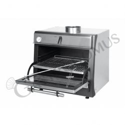 Forno a carbone da interno - 1 camera - L 680 mm x P 535 mm x H 720 mm