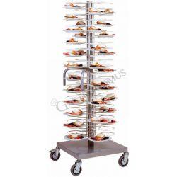 Carrello portapiatti con base e ruote per 96 piatti 18/23