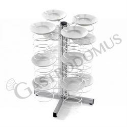Carrello portapiatti da banco con griglia cromata per 48 piatti 25/31 L 700 mm x P 700 mm x H 830 mm