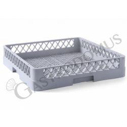 Cestello base vuota per posate 500x500mm colore grigio h 90 mm