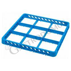 Rialzo 9 scomparti per cestello colore blu h 45 mm