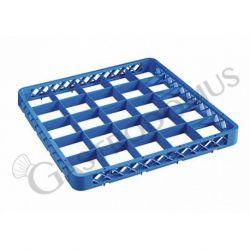 Rialzo 25 scomparti per cestello colore blu h 45 mm