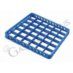 Rialzo 36 scomparti per cestello colore blu h 45 mm