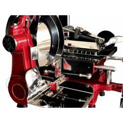 Affettatrice a volano in alluminio, lama diametro 250 mm, taglio utile L 185 x H 150 mm