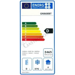 Armadio refrigerato statico - temperatura -18°C/-20°C - capacità 507 LT