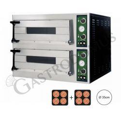 Forno elettrico 1+1 teglie 60x40 o 4+4 pizze 35 cm - 2 camere - controllo meccanico