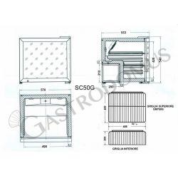 Scheda tecnica interna armadietto per bibite a refrigerazione statico