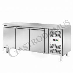 Tavolo frigo per gastronomia con 3 porte, profondità 700 mm e temperatura -18°C/-22°C