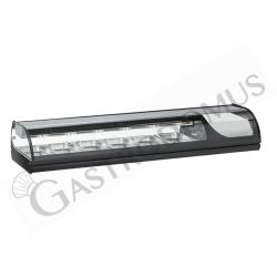 Vetrina sushi - capacità 6 bacinelle GN1/3 - potenza 159 W