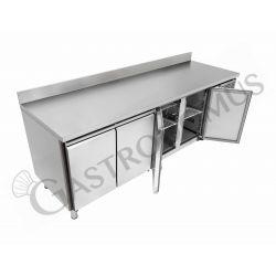 Tavolo frigo - 4 porte - alzatina - Prof. 700 -2°C/+8°C