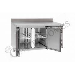 Tavolo refrigerato per pasticceria - 2 porte - 60 x 40 - alzatina