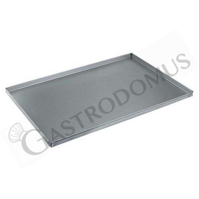 Teglia quadrata in alluminio 600 mm x 400 mm - altezza 20 mm