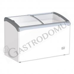 Congelatore a pozzetto per gelato 245 Lt - porta vetro curvo e temperatura - 25° C/ - 18° C