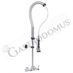 Gruppo doccia Top-Class combinazione rubinetto biforo a muro comandi 1/4 di giro