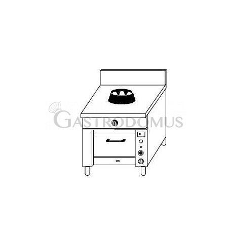 Cucina cinese 1 fuoco con forno a gas