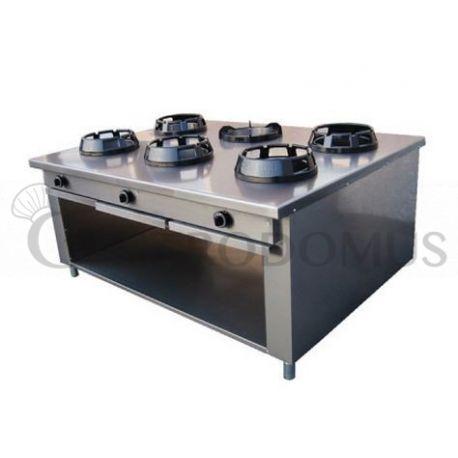 Cucina cinese 6 fuochi vano aperto