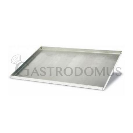 Teglia quadrata in acciaio inox 400 mm x 600 mm - altezza 20 mm