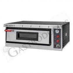 Forno elettrico per 6 pizze di diametro 35 cm con 1 camera a controllo meccanico