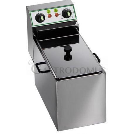 Friggitrice elettrica da banco - 1 vasca - capacità 8 LT - 3000 W
