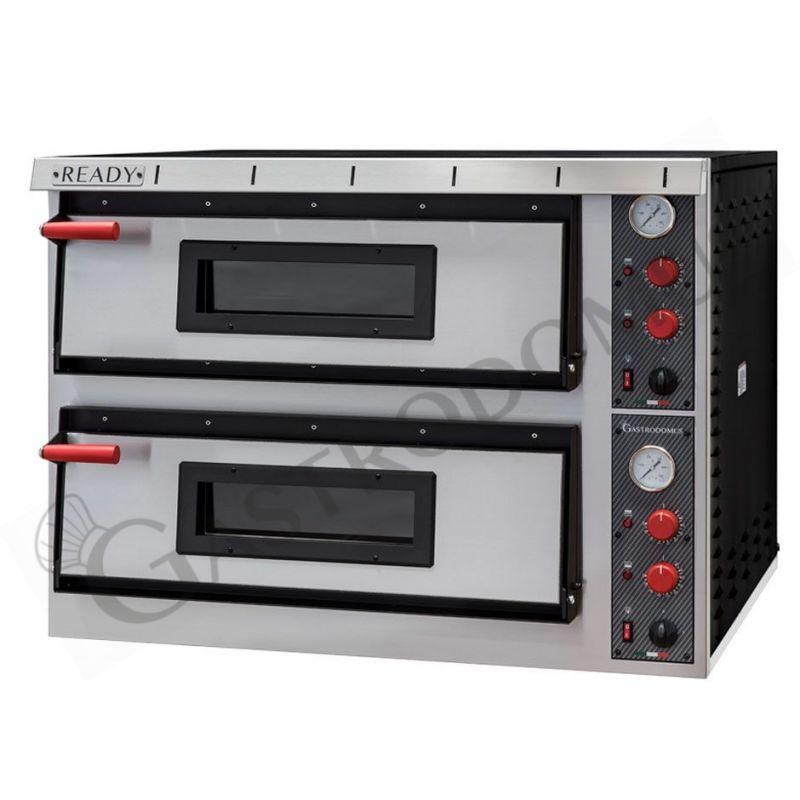 Forno elettrico per 4+4 pizze di diametro 35 cm con 2 camere a controllo meccanico