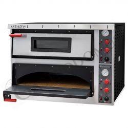 Forno elettrico aperto per 4+4 pizze di diametro 35 cm con 2 camere a controllo meccanico