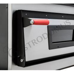 Dettaglio forno elettrico per 4+4 pizze di diametro 35 cm con 2 camere a controllo meccanico